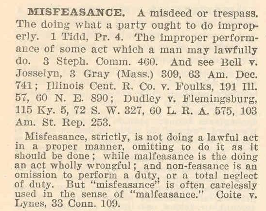 Misfeasance